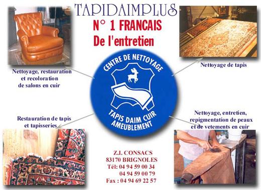 Tapidaimplus soci t de nettoyage et restauration des tapis for Nettoyage salon cuir